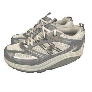 Skechers Shape Up Sneakers EUC White Gray